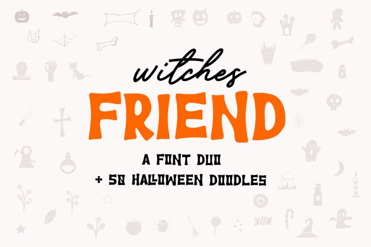Witches Friend   Font Duo example image 1