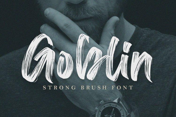 Goblin - Urban Brush Font example image 1