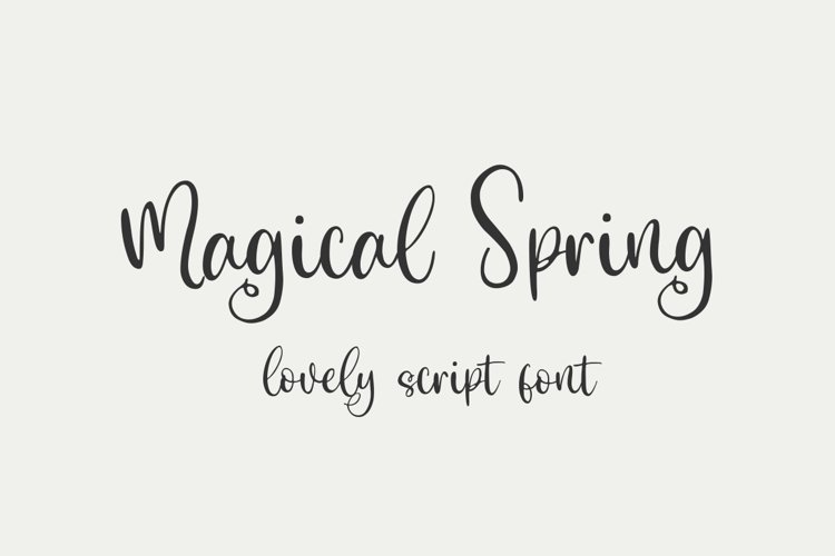 Magical Spring - Lovely Script example image 1