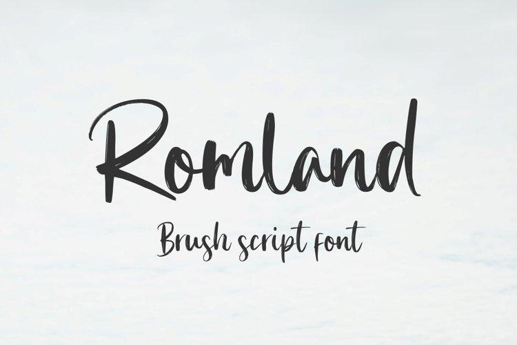 Romland - Handbrush Font example image 1
