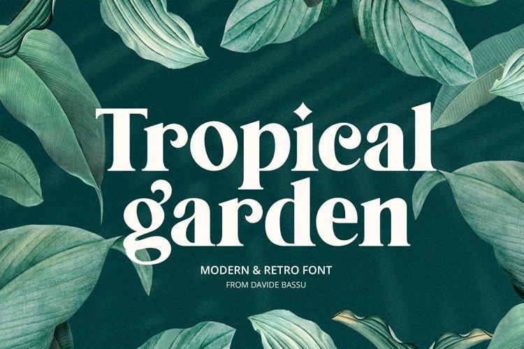 Tropical Garden font example image 1