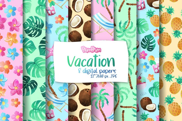 Vacation Digital Papers example image 1