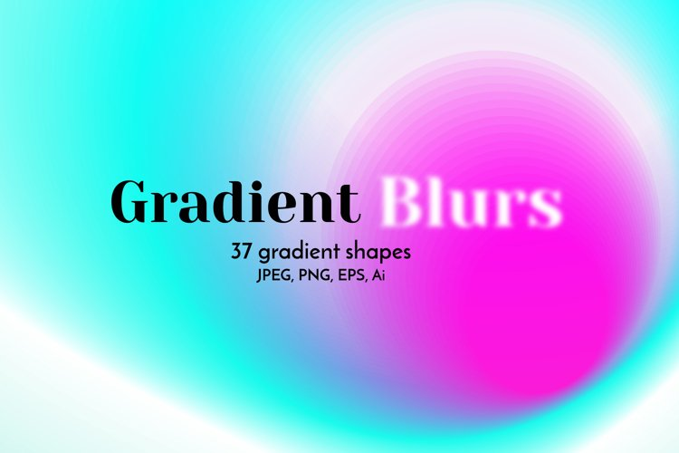 Gradient Blur Abstract Backgrounds Clipart. Blurry Textures.