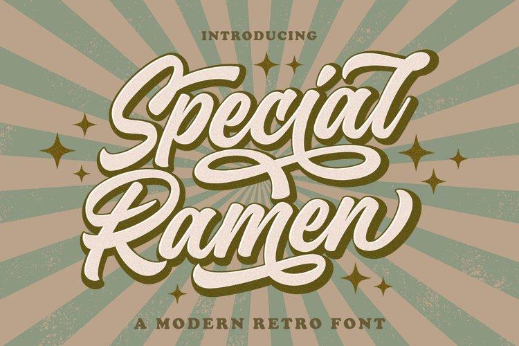 Special Ramen - Modern Retro Font example image 1