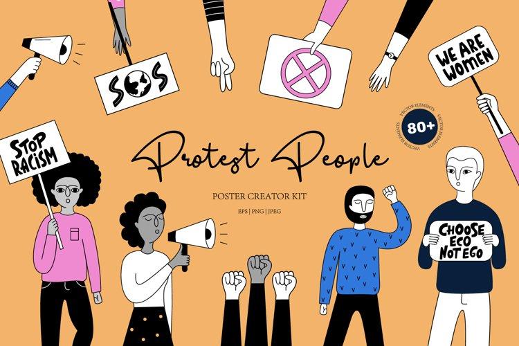 Demonstration & human rights.