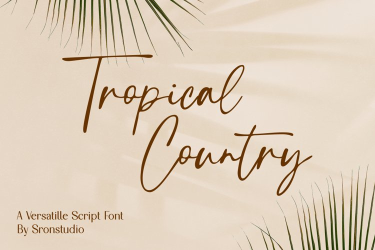Tropical Country - Handwritten Font example image 1