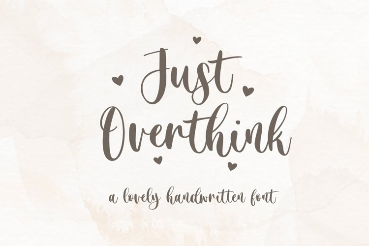 Just Overthink - Lovely Font example image 1