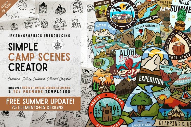 Simple Camp Scene Creator - SVG Adventure Mega Bundle PNG