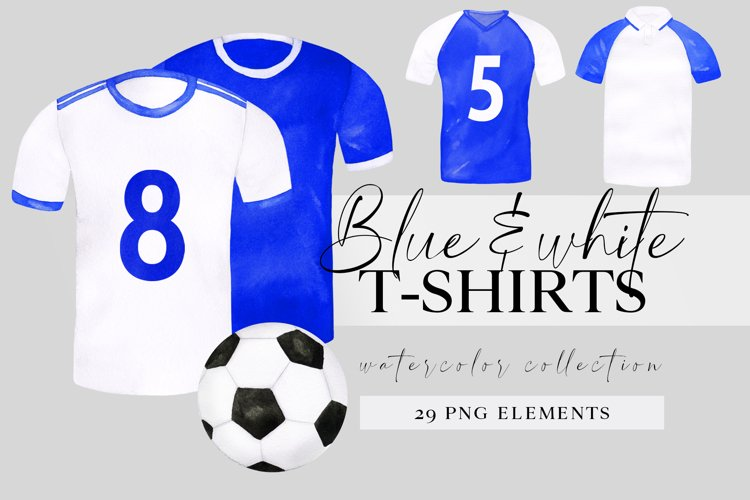 Watercolor football shirt png clipart, fathers day clip art example image 1