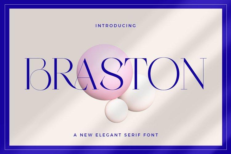 Braston - Elegant Serif Font example image 1