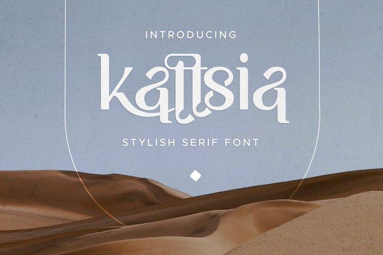 Kattsia - Stylish Serif Font example image 1