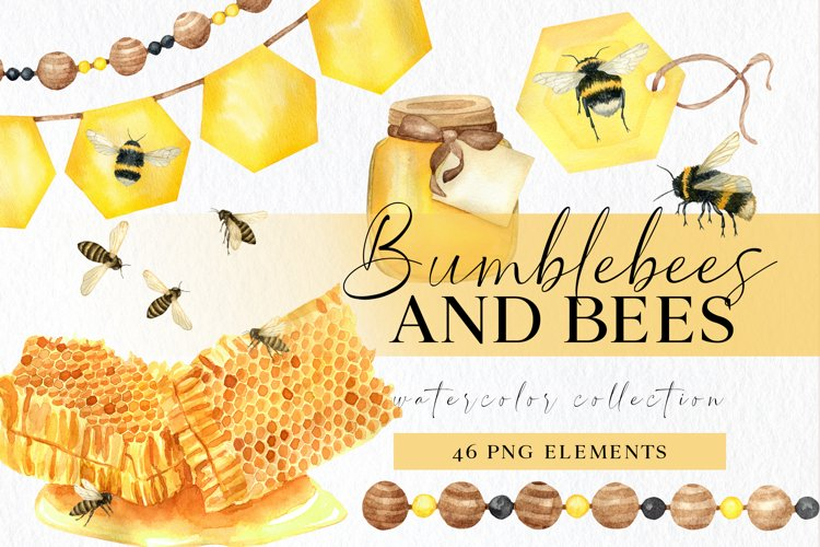 Bumble bee clipart png, insect clip art, honey bees