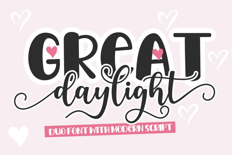 Great Daylight Duo Font example image 1
