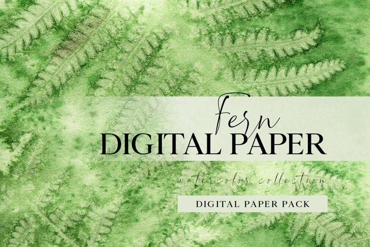 Forest fern digital paper, summer scrap book paper 12x12 example image 1