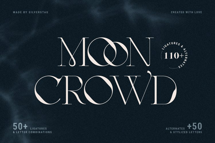 MOON CROWD - Elegant & Stylish Serif example image 1