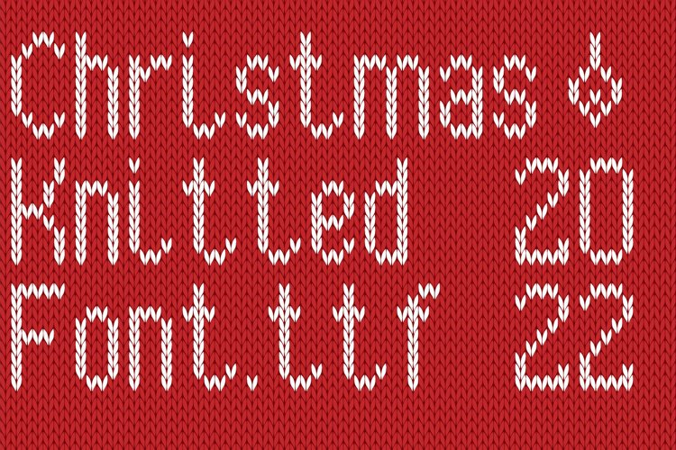 Christmas Knitted Font Version 3.0 example image 1