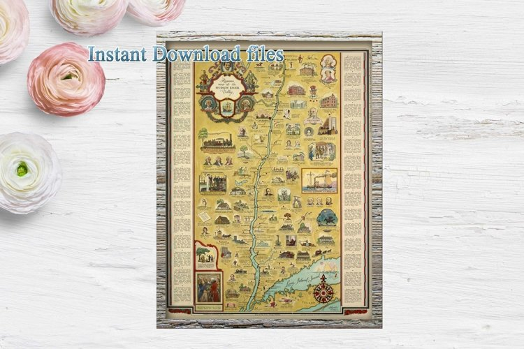 Old Maps of New York City and State, Vintage Romance map