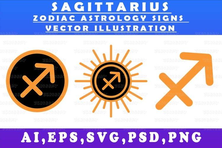 sagittarius zodiac astrology signs vector illustration graph