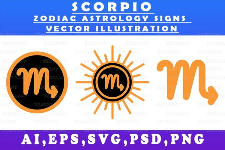scorpio zodiac astrology signs vector illustration graph