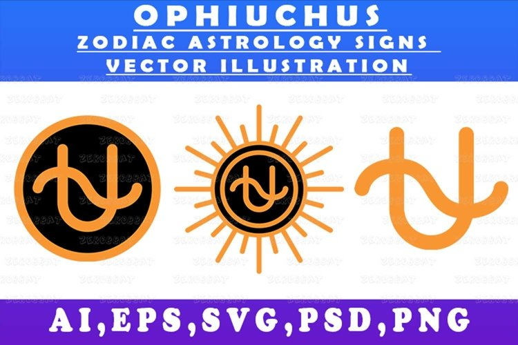 ophiuchus zodiac astrology signs vector illustration graphic