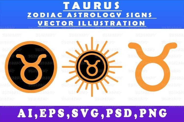 taurus zodiac astrology signs vector illustration graph