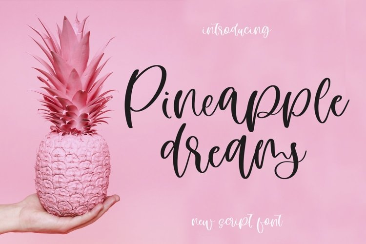 Web Font Pineapple Dreams example image 1