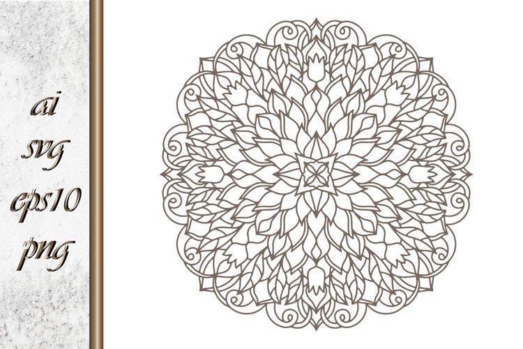 Doodle flower with leaf Hand drawn Sketch
