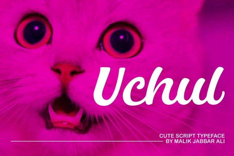 Uchul Cute Script Typeface