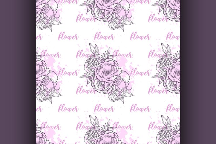 Seamless pattern with flowers example image 1