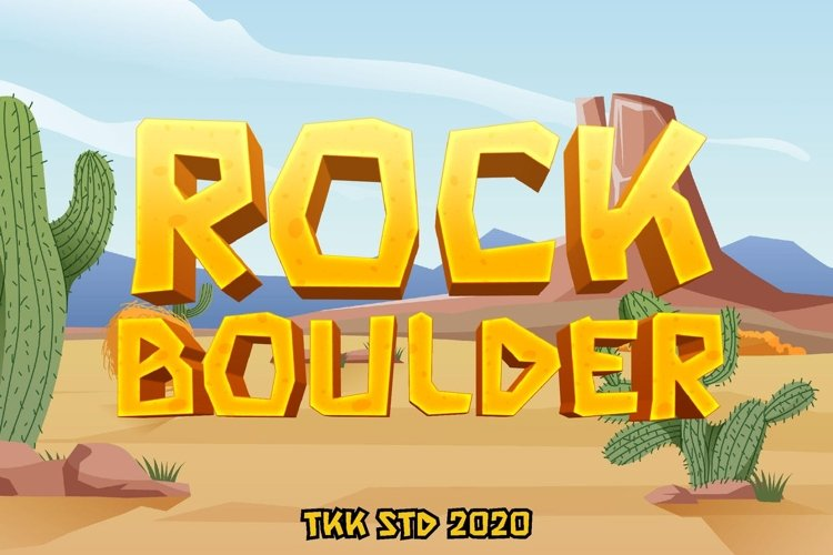 Rock Boulder - Gaming Font example image 1