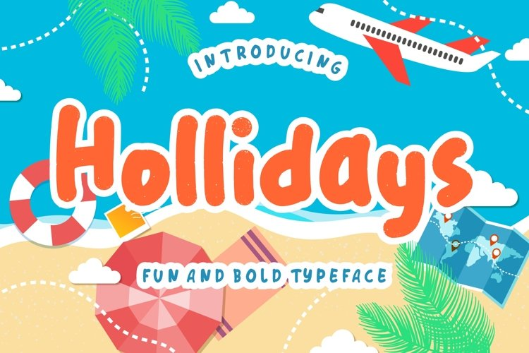 Hollidays Fun Children Typeface example image 1