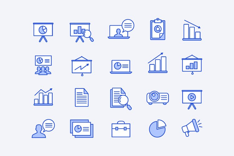 Blue Corporate Icons example image 1