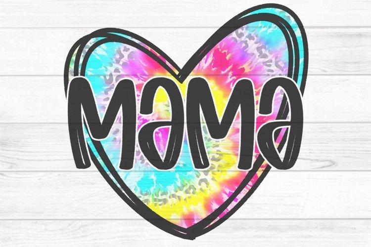 Mama Tie Dye Heart