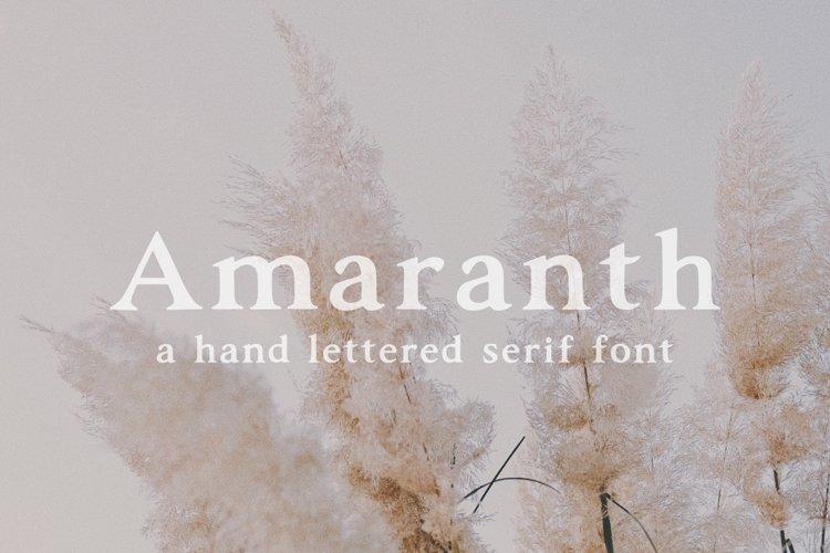 Amaranth | Hand Lettered Serif Font example image 1