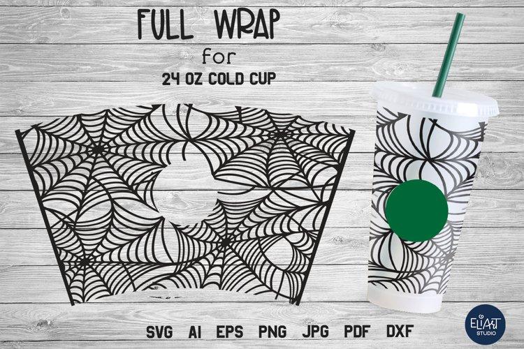 Cup Wrap SVG | Halloween SVG | Spider Web SVG Full Wrap