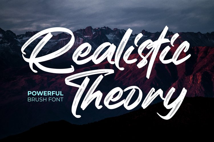 Realistic Theory - Powerful Brush Font example image 1