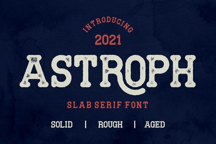 Astroph - Retro Slab Serif example image 1