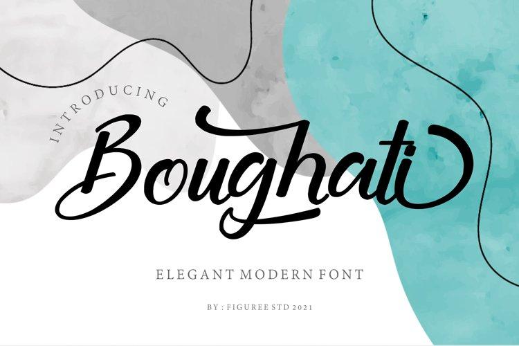 Boughati - Elegant Modern Font