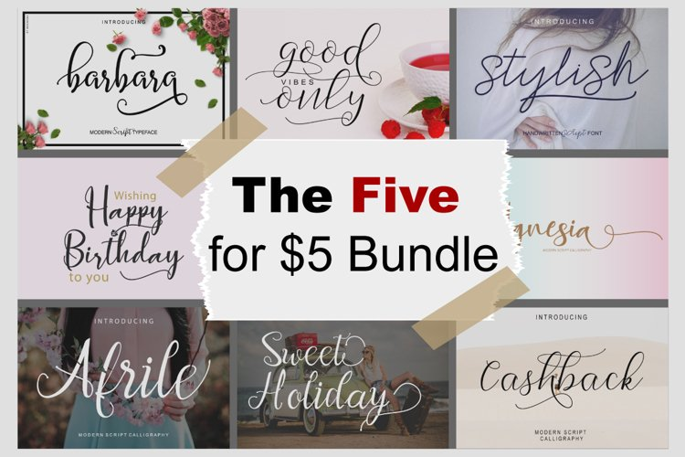 THE FIVE FOR $5 BUNDLE example image 1