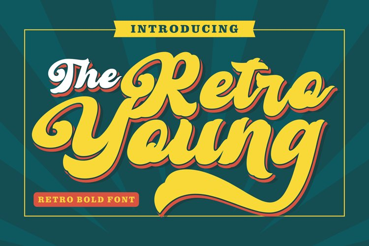 Retro Young - Vintage Bold Font example image 1