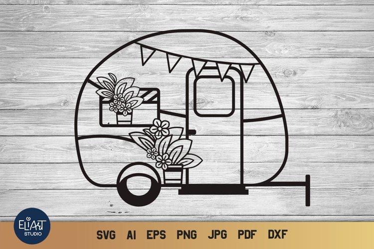 Camper SVG | Camping SVG | Happy Camper SVG