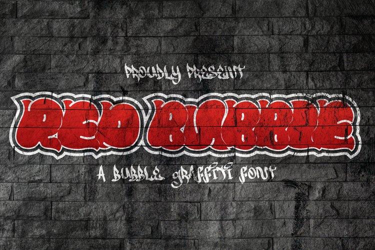 Red Bubble - Graffiti Font example image 1