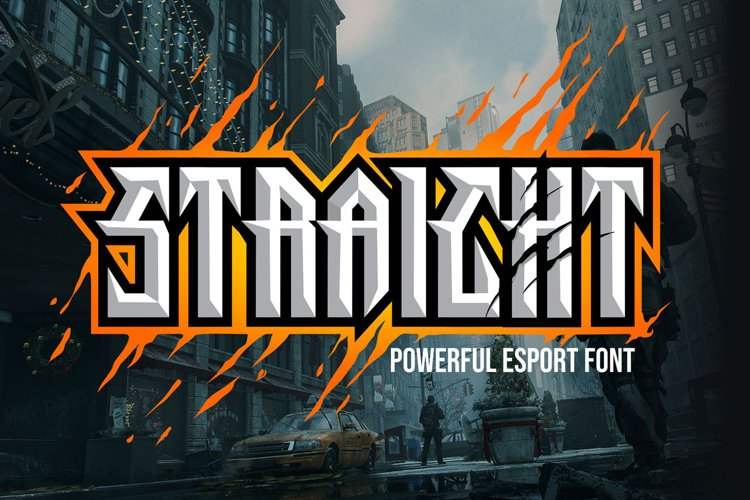 Straight - Powerful Esport Font example image 1