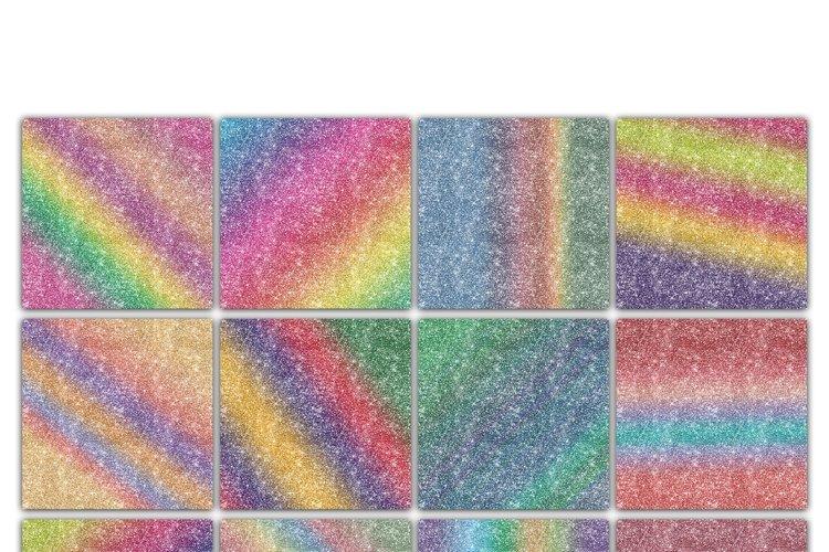 Rainbow Glitter Digital Paper Textures - Free Design of The Week Design0