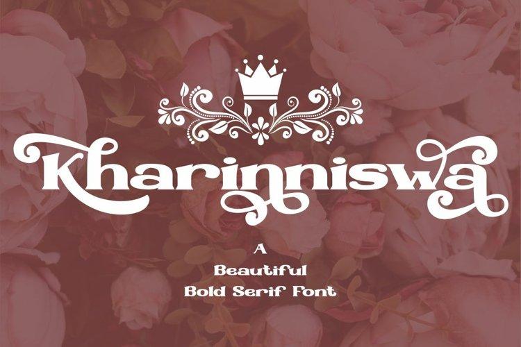 Kharinniswa - A Beautiful Bold Serif Font