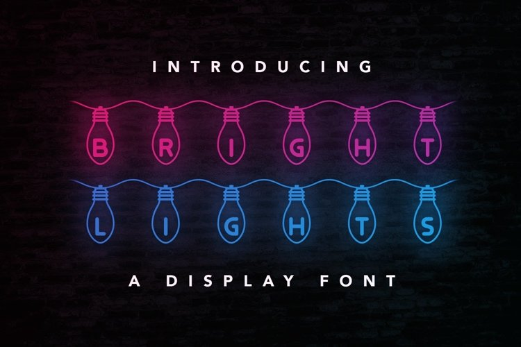 Web Font Bright Lights example image 1