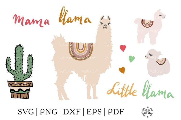 Mama Llama svg, Llama bundle svg, Little Llama Svg, Decorate