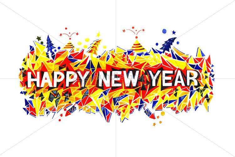 Happy New Year - Handmade Graphic example image 1