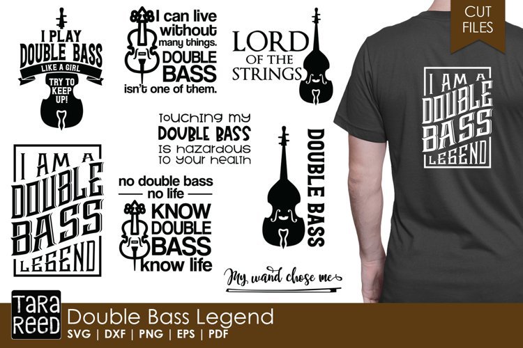 Double Bass Legend - Music SVG and Cut Files for Crafters