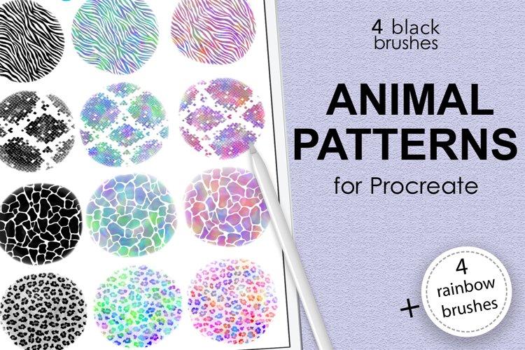 Animal pattern brushes and rainbow brushes for Procreate example image 1